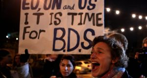 Israel's parliament has passed a law barring entry of foreigners who support the boycott, divestment and sanctions (BDS) campaign. Photograph: Gali Tibbon/AFP/Getty Images
