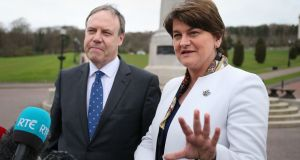 DUP leader Arlene Foster has denied there is a revolt in the DUP over it losing 10 seats in last week's Assembly election. Photograph: Niall Carson/PA Wire.