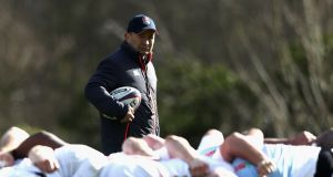 Eddie Jones' England look like a team feeling the pressure as the weight of creating history bears down on them. Photograph:  David Rogers/Getty Images