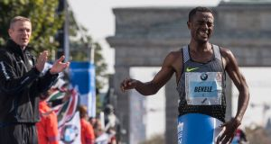 Questions have been raised about whether   Ethiopian Kenenisa Bekele used springs in his shoes at the recent Dubai marathon. Photograph: John MacDougall/AFP/Getty