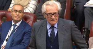 Lord Heseltine speaks in the House of Lords, London, on Tuesday as the Brexit Bill is debated. Photograph: PA Wire