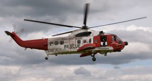 The injured man was airlifted from a Russian fishing vessel about 290km northwest of Erris Head about 4.30am. File photograph: Getty Images