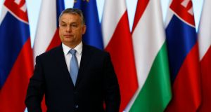"Hungary's prime minister Viktor Orban: Dismissed criticism of its asylum policy as ""dreamy human rights gibberish"". Photograph: Kacper Pempel/Reuters"