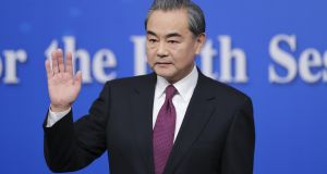 China's foreign minister Wang Yi attends a press conference at China's annual parliament, the National People's Congress. Photograph: Lintao Zhang/Getty Images