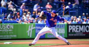 PJ Conlon during a Spring Training game between the Houston Astros and New York Mets in February. Photograph: Getty Images