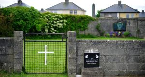 A file photo of the  site where the remains of children were found at the former mother and baby home in Tuam, Co Galway. Photograph: EPA/AIDAN CRAWLEY