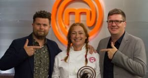 She's the one: Judges Robin Gill and Daniel Clifford with Celebrity MasterChef winner Niamh Kavanagh