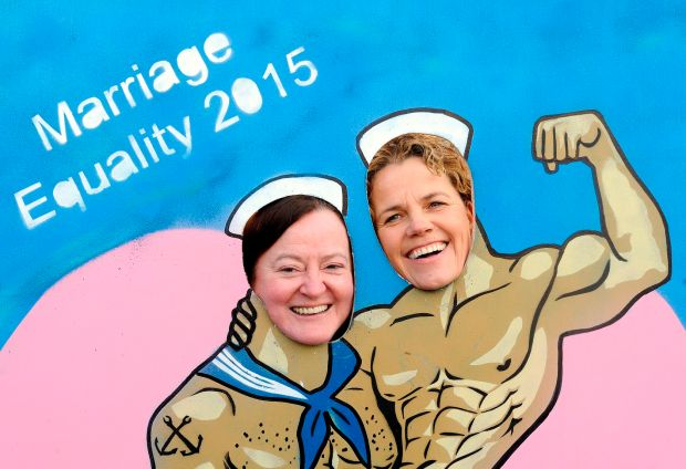 Marriage Equality campaigners Grainne Healy (Chair) and Denise Charlton