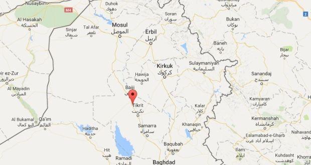 bombing took place in an open area in hajaj near the city of tikrit