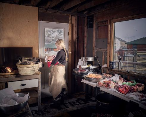 Matt Hamon (Montana, USA) was in second place (Open Award) for his image of an Epona woman nursing her infant son in the corner of a meat processing shed in Yellowstone Park, Montana.