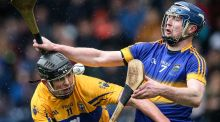 Dominant figure: Tipperary's Tomas Hamill (right) in action against Clare  at Semple Stadium last Sunday. Photograph: Cathal Noonan/Inpho