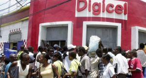 Digicel office in Port-au-Prince: Denis O'Brien is widely expected to make another attempt to float Digicel. Photograph: Thony Belizaire