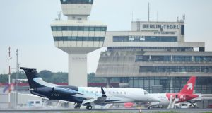 Berlin Airport  said 455 flights had been cancelled at Tegel and 204 at Schönefeld