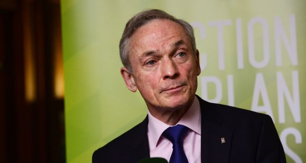 Richard Bruton described the €219 million contribution by the Catholic Church to the redress bill as a 'far cry' from the 50 per cent share it agreed to contribute. Photograph: Cyril Byrne/The Irish Times