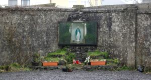 A shrine on the site of the former mother and baby home in Tuam, Co Galway, where    babies and toddlers were found buried. Photograph: Peter Nicholls/Reuters