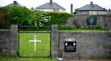 The entrance to the site of a mass grave at the former mother and baby home in Tuam, Co Galway. Photograph: Aidan Crawley/EPA