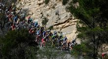 The pack rides during the   sixth stage of the   Paris-Nice   race. Photograph: Getty Images