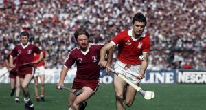 Jimmy Barry Murphy in action against Galway in the 1986 All-Ireland final. He epitomised the traditional style and confidence of Cork teams. Photograph: Billy Stickland/Inpho Billy Stickland