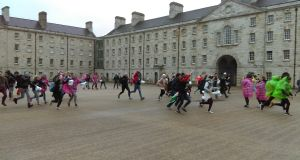 Participants set off from the starting line at Collins Barracks. Photograph: Ciarán D'Arcy/The Irish Times