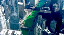 Chicago dyes river green for St. Patrick's Day