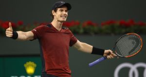 Andy Murray suffered a shock second round defeat to Canada's Vasek Pospisil in Indian Wells. Photograph: Clive Brunskill/Getty
