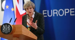 Britain's prime minister Theresa May has repeatedly said she would rather walk away with no Brexit deal rather than do a bad deal.  Photograph: EPA