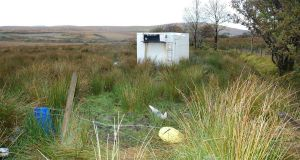 A   photo issued by PSNI showing the  shipping container where kidnapped cattle dealer Paul Gogan was held hostage. Photograph: PA