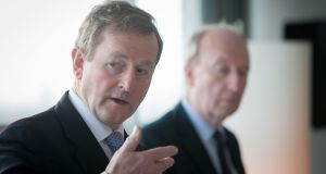 Taoiseach Enda Kenny said the proposed change will mark a 'historic recognition of the strong and enduring links between Ireland and all our citizens'. Photograph: Gareth Chaney/ Collins