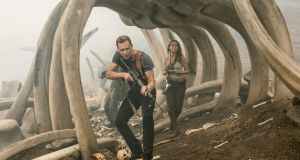 "Bone crusher: Tom Hiddleston and Brie Larson  in ""Kong: Skull Island"". Photograph: Vince Valitutti/Warner Bros/AP"