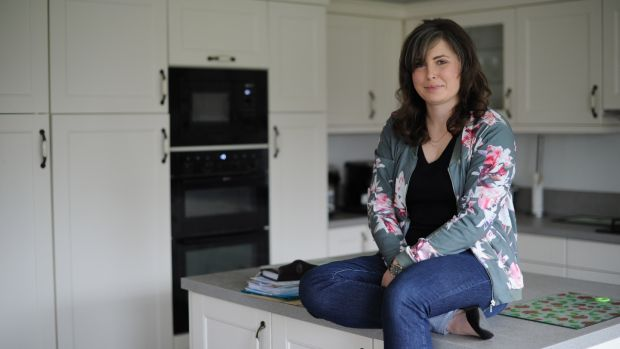 Kate McEvoy in her parents home in Ballsbridge, Dublin. Photograph: Aidan Crawley