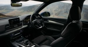 The Audi Q5's  cabin is analogous to a well-fitted Hugo Boss suit