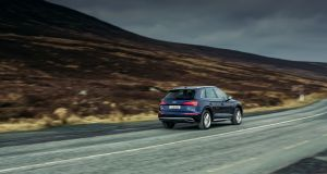 The Audi Q5's economy is decent, with a claimed 5.1 litres per 100km, or 56mpg