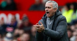 Jose Mourinho will be without a recognised centre forward for Monday night's clash with former club Chelsea. Photograph: Jason Cairnduff/Reuters
