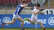 Mattie Donnelly played an attacking role for Tyrone in their  Football League Division One win over Cavan at  Healy Park on Sunday. Photograph: Lorcan Doherty/Inpho.