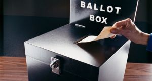 Ballot box.ie surveyed the diaspora vote during the 2011 presidential elections. Many of the results were very different to those obtained domestically. File photograph: Getty Images