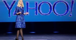 "Yahoo! chief executive Marissa Mayer: ""For me personally, I'm planning to stay. I love Yahoo, and I believe in all of you. It's important to me to see Yahoo into its next chapter."" Photograph:  Ethan Miller/Getty"