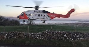 An Irish Coast Guard helicopter, with four crew on board, has gone missing off the west of Ireland. Stock photograph: Irish Coast Guard/PA Wire.