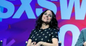 Actor Julia Louis-Dreyfus joins the cast and showrunner of the television series Veep for a discussion at the  SXSW Music Film Interactive festival. Photograph: Brian Snyder/Reuters