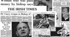 'The Irish Times' coverage of Eamonn Casey From the first front page; some of the 1992 headlines about the bishop's resignation