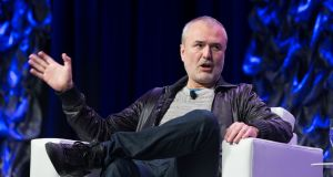 Nick Denton, Gawker founder, speaks at SXSW. Photograph:  Suzanne Cordeiro/AFP/Getty Images