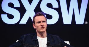 Actor Michael Fassbender takes part in  Made in Austin: A Look into Song To Song, the Terrence Malick film he is in. Photograph: Michael Loccisano/Getty Images for SXSW