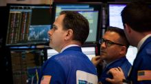 Traders  on the floor of the New York Stock Exchange.   Photograph: Michael Nagle/Bloomberg