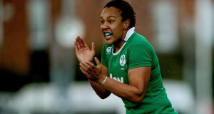 Sophie Spence will again partner Marie-Louise Reilly, who is set to win her 50th Ireland cap this Friday. Photo: Inpho