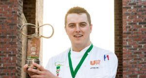 Andrew Reddan, Dundalk Institute of Technology, winner of the 20th Knorr Student Chef of the Year. Photograph: Cathal Noonan