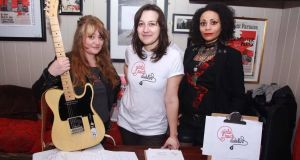 "Girls Rock Dublin: ""The movement supports all the ways girls want to rock out, whatever that means to them,"" says Rossella Bottone (centre) with Karen Hammond (left) and Zia Zeitgeist (right). Photograph: Kyrstin Healy"