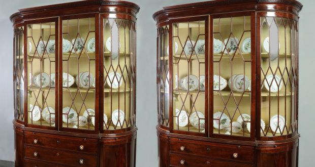 The Mount Stewart china cabinets attributed to Mack  Williams   Gibton   Dublin  circa. London sale of fine Irish antique furniture from great Irish houses