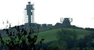 British army watchtowers on the Border in south Armagh in  2001. Photograph: John Giles/PA
