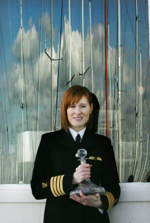The Irish Coast Guard has confirmed that one of its most senior pilots, Capt Dara Fitzpatrick (45), died when the Dublin-based helicopter crashed off the Mayo coast. Captain  Fitzpatrick , chief pilot Search & Rescue, photographed with her Sea & Shore Safety Award presented  in  Dun Laoghaire 2010.  Photograph: Cyril Byrne