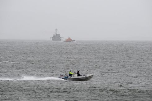 Scene of the search for missing Coast Guard helicopter crew at Blacksod, Co. Mayo.Photograph: Dara Mac Donaill / The Irish Times         Photograph: Dara Mac Donaill / The Irish Times