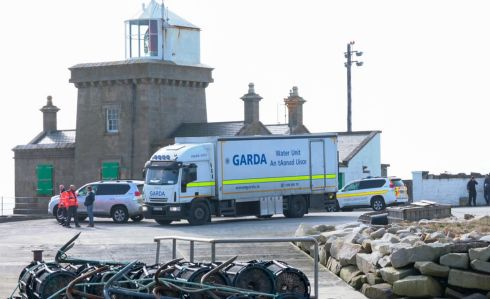 The Garda Water Unit arriving to join the search for the Coast Guard Helicopter Missing at Blacksod, Belmullet, Co. Mayo. Photo : Keith Heneghan / Phocus